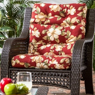 Dunedin 3-section Outdoor Floral High Back Chair Cushion by Havenside Home - 22w x 44l