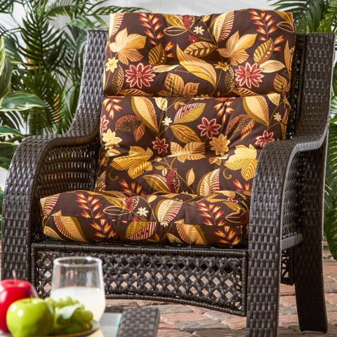 Dana Point 3-section Outdoor Woodsy Floral High Back Chair Cushion by Havenside Home - 22w x 44l
