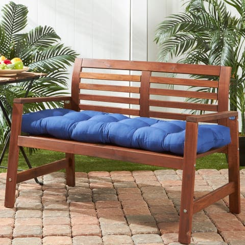 Driftwood 51-inch Outdoor Marine Blue Bench Cushion by Havenside Home - 18w x 51l