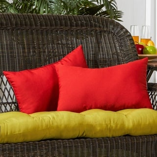 Link to Driftwood 19x12-inch Rectangular Outdoor Red Accent Pillows (Set of 2) by Havenside Home - 12h x 19l Similar Items in Outdoor Cushions & Pillows
