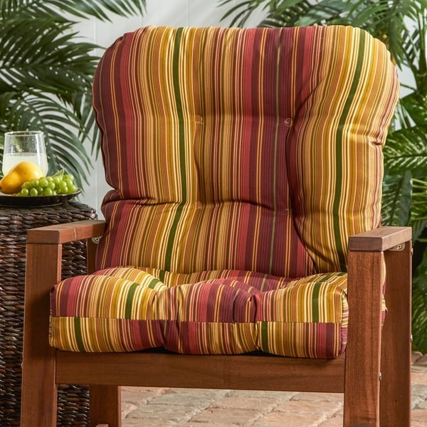 Dewey Outdoor Stripe Seat/ Back Combo Cushion by Havenside Home - 21w x 38l