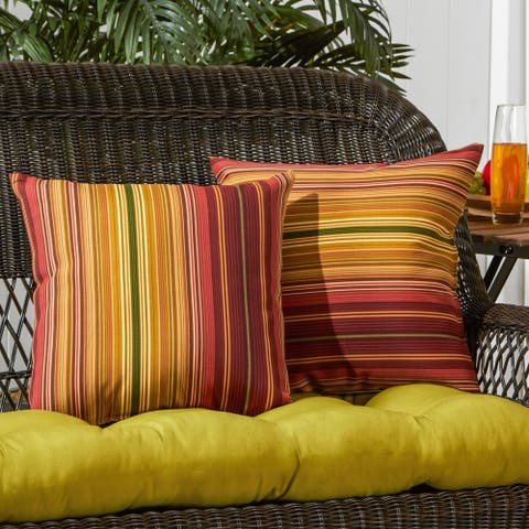 Dewey Outdoor 17-inch Accent Pillow (Set of 2) by Havenside Home - 17w x 17l