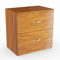 Shop Cardiff Brown Wood 2 Drawer File Cabinet Free Shipping Today