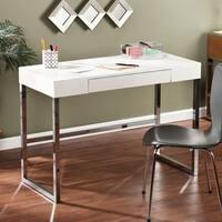 Silver Orchid Baum Textured White Desk