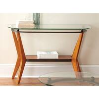 Carson Carrington Vihti Glass and Wood Sofa Table