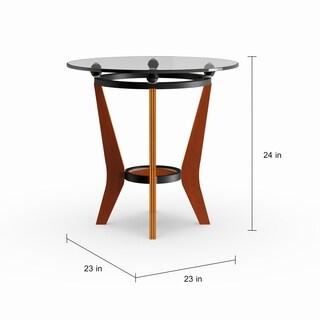 Carson Carrington Vihti Glass and Wood 3-piece Occassional Set