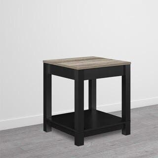 Porch & Den Greenough Commerce Black Wood End Table