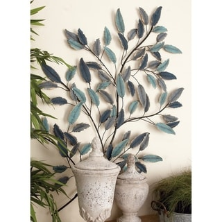 Link to Copper Grove Kitty Metal Leaf Wall Decor Similar Items in Accent Pieces