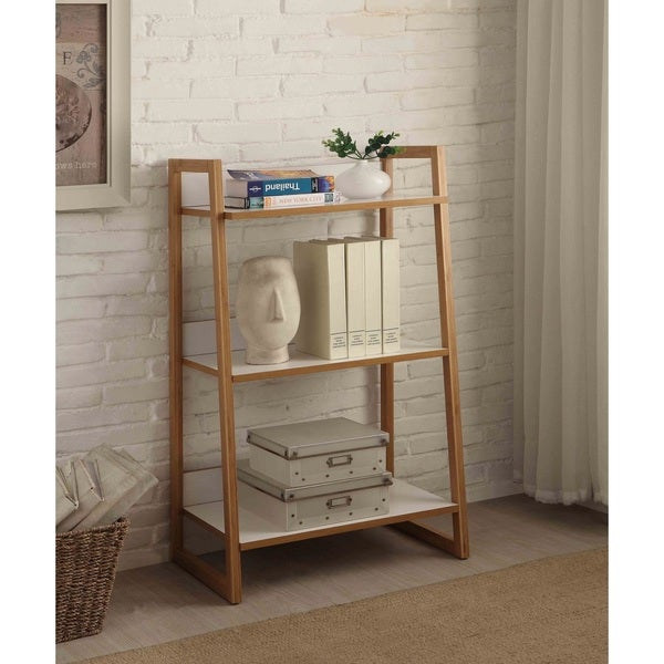 Strick & Bolton Luella White Wood 3-tier Shelf