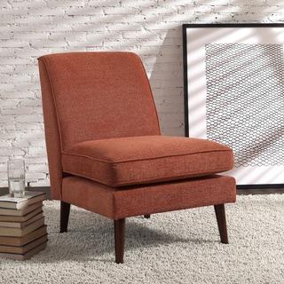 Carson Carrington Hamina Rubberwood and Fabric Slipper Chair