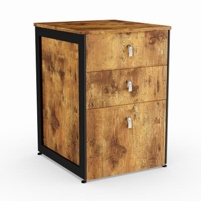 Carbon Loft Virgie Nutmeg File Cabinet