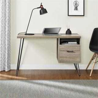 Link to Carson Carrington Silkeborg Sonoma Oak/ Gunmetal Grey Desk Similar Items in Desks & Computer Tables