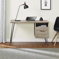 Carson Carrington Silkeborg Sonoma Oak/ Gunmetal Grey Desk