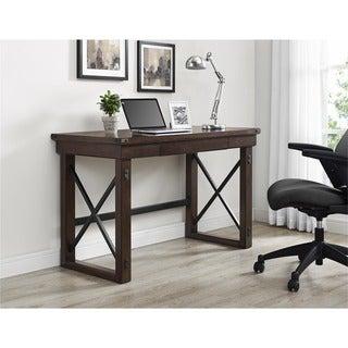 Carbon Loft Simeon Mahogany Veneer Desk