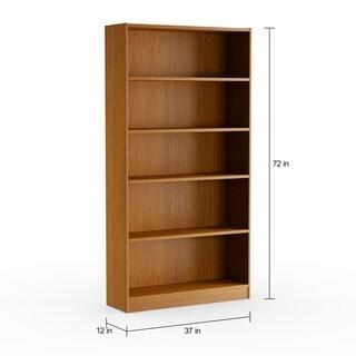 Pine Canopy Edelweiss 5-shelf Bookcase in Royal Oak Finish