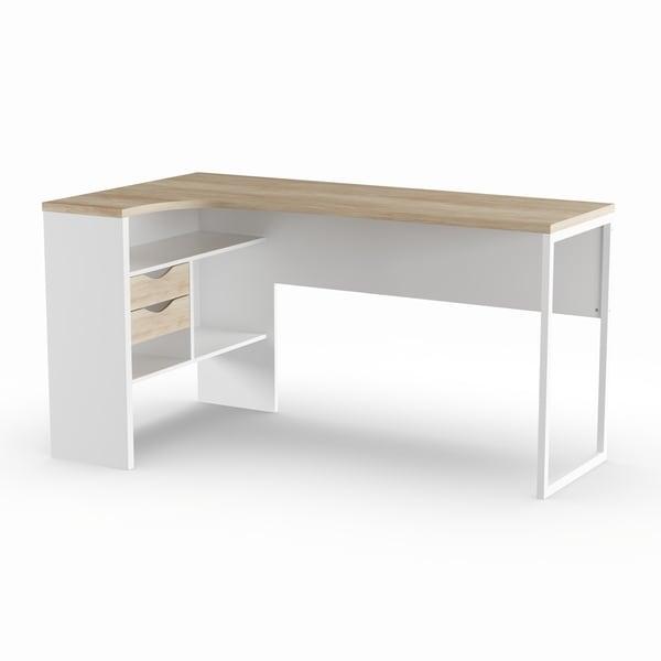Shop Porch & Den Oakland White/ Brown Wood/ Metal 2-drawer