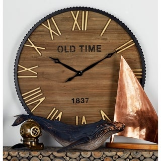 The Gray Barn Jartop Wood Metal 36-inch Wall Clock