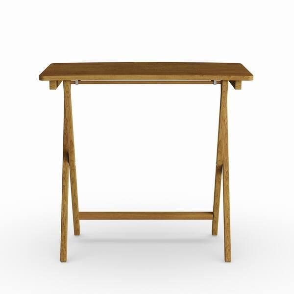 Peachy Shop Copper Grove Goosefoot Red Oak Folding Tv Tray Table Short Links Chair Design For Home Short Linksinfo