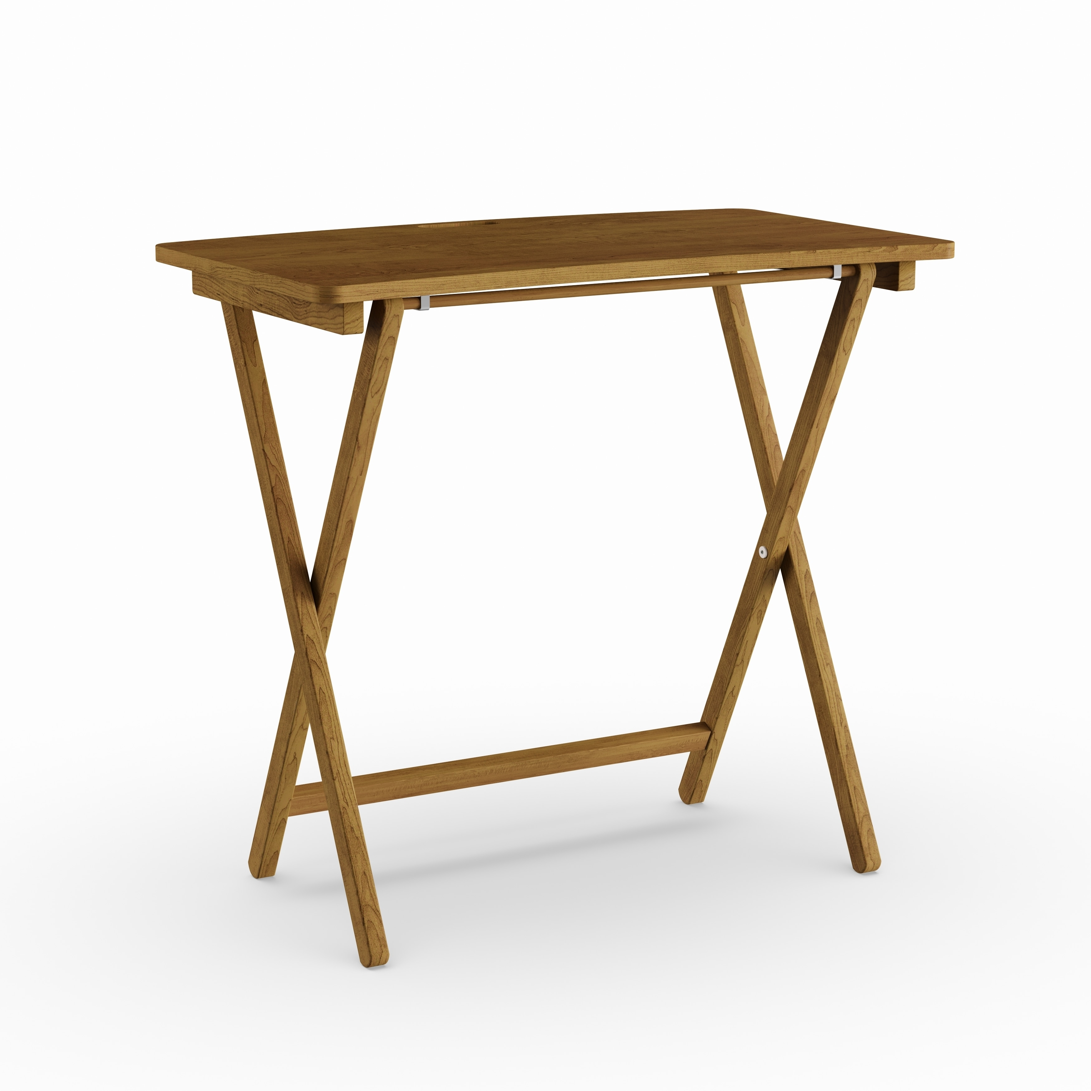 - Shop Copper Grove Goosefoot Red Oak Folding TV Tray Table