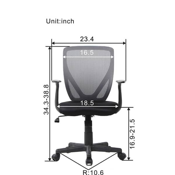 Bonum Office Chair With Mid Back Black Mesh Chair Overstock 22751852