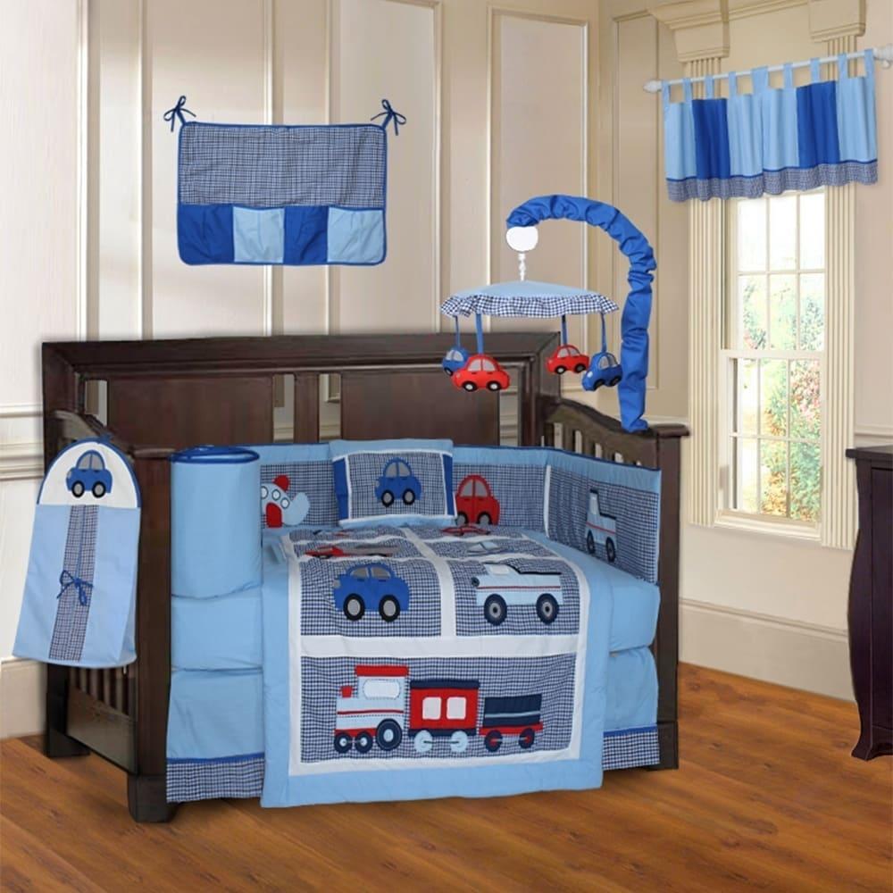 Babyfad Teddy Bear Baby 10 Piece Crib Bedding Set