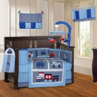 BabyFad Transport 10-piece Crib Bedding Set