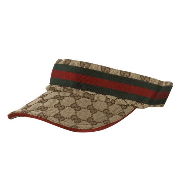 Shop Gucci Logo Jacquard Visor Hat - Free Shipping Today - Overstock -  2275957 2132741a2f6
