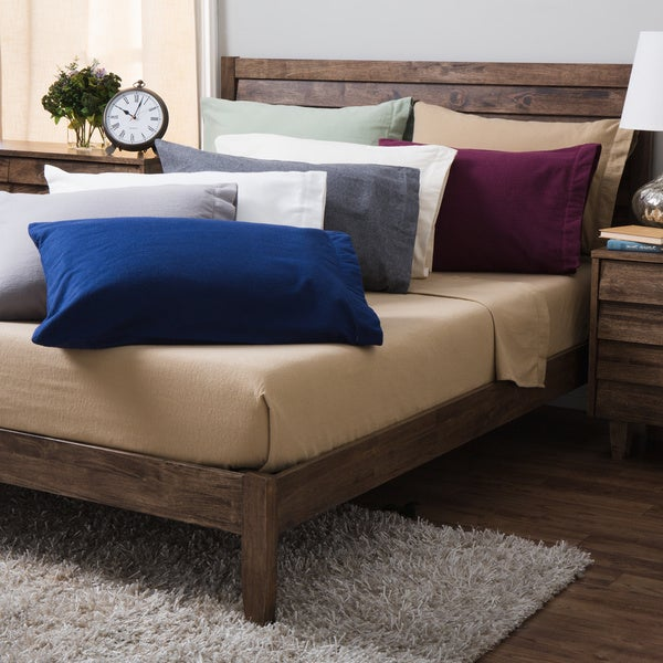 German Flannel 6-Ounce Hemstitch Pillowcases (Set of 2)
