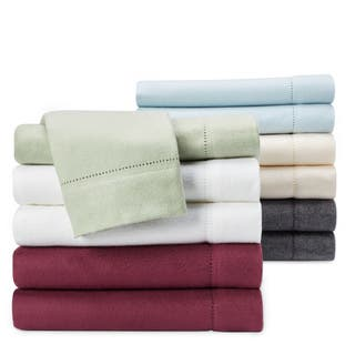Luxury German Flannel Ultra-soft / Heavyweight 6-ounce Hemstitch Pillowcases (Set of 2)|https://ak1.ostkcdn.com/images/products/2276327/P10528977.jpg?impolicy=medium