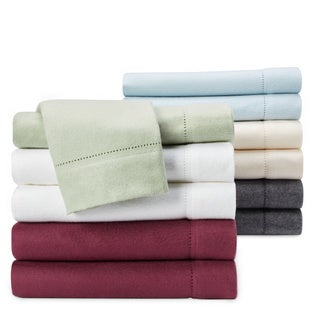 Luxury German Flannel Ultra-soft / Heavyweight 6-ounce Hemstitch Pillowcases (Set of 2)