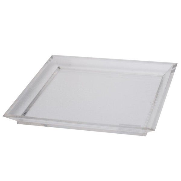 Acrylic Tray In Square Shape, White