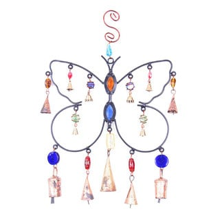 Handmade Iron Butterfly Wind Chime (India)