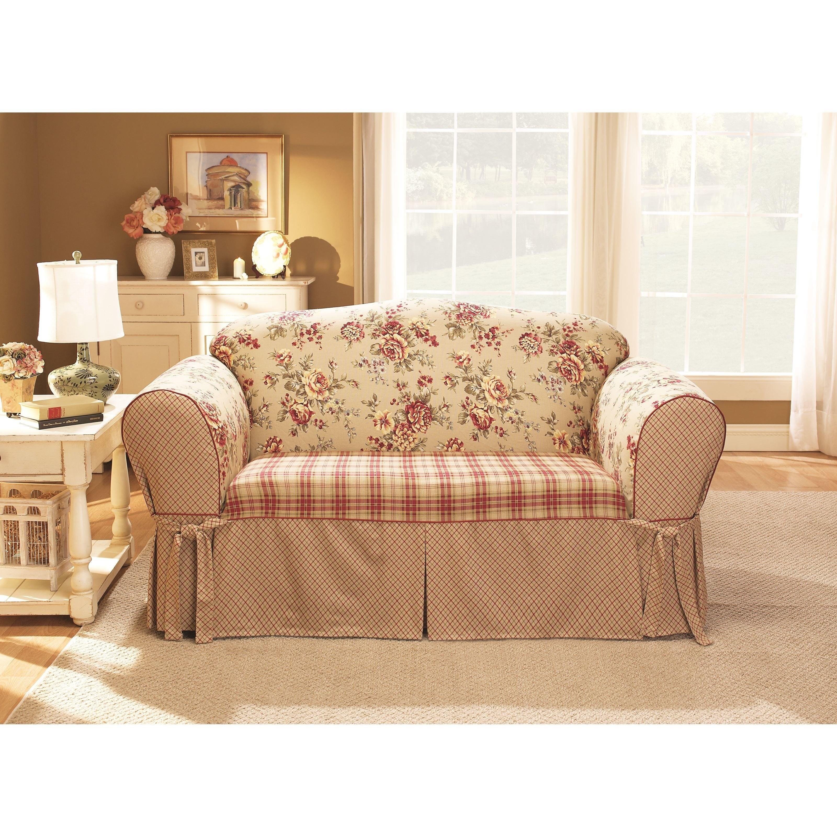 Remarkable Sure Fit Lexington Washable Loveseat Slipcover Ncnpc Chair Design For Home Ncnpcorg
