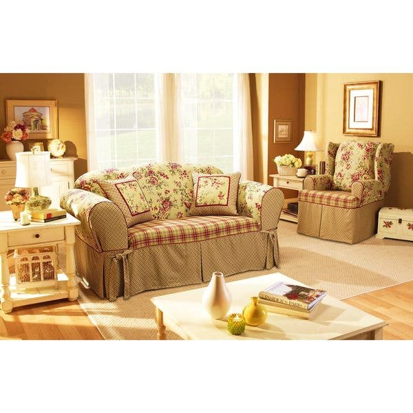 Shop Sure Fit Lexington Washable Sofa Slipcover Overstock 2278531
