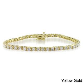 Miadora Signature Collection 14k Gold 4ct TDW Diamond Tennis Bracelet