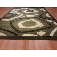 "Rug Tycoon Abstract Modern Contemporary Green Rug - 2'0""x3'0""rectangular"