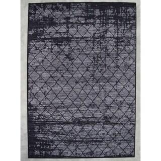 "Rug Tycoon Abstract Modern Contemporary Grey Rug - 2'7""x7'2""rectangular runner"
