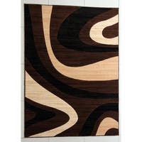 """Rug Tycoon Abstract Modern Contemporary Brown Rug - 4'0""""x6'0""""rectangular"""