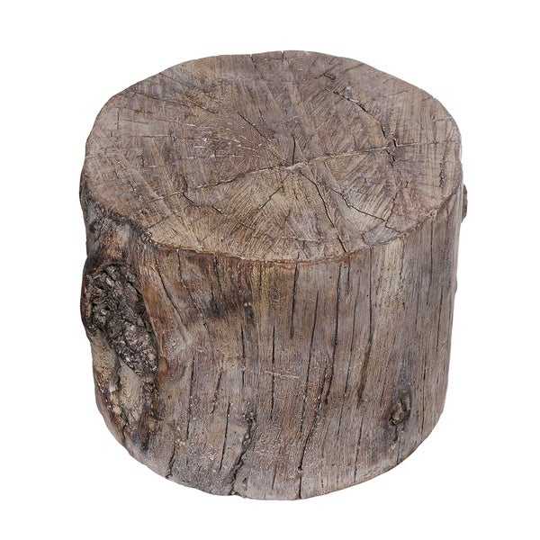 Quiz What Is Your Garden Style: Shop Cement Tree Stump Stool In Round Shape, Small, Brown