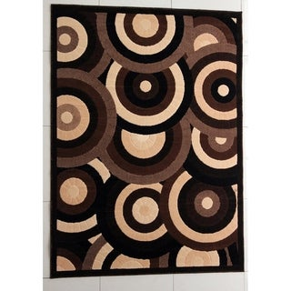 """Rug Tycoon Abstract Modern Contemporary Brown Rug - 2'0""""x3'0""""rectangular"""