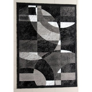 "Rug Tycoon Abstract Modern Contemporary Grey Rug - 2'0""x3'0""rectangular"