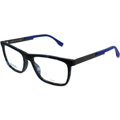 Hugo Boss Rectangle BOSS 0733 KD6 Unisex Blush Havana Carbon Frame Eyeglasses