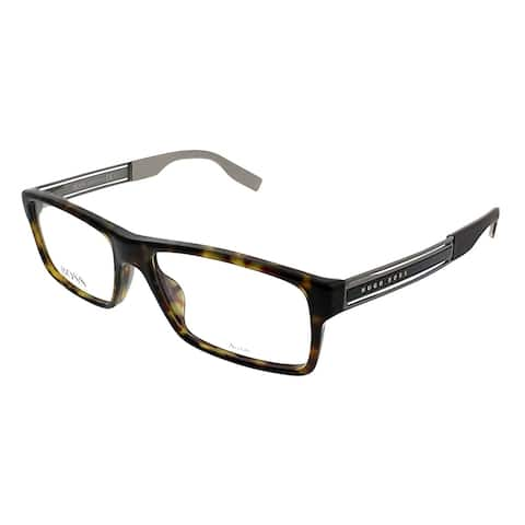 Hugo Boss Rectangle BOSS 0566 AQL Unisex Black Frame Eyeglasses