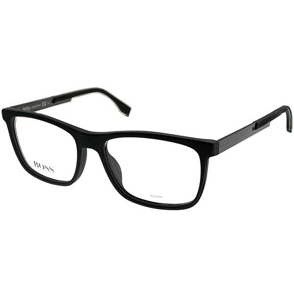 10535faf7f Hugo Boss Rectangle BOSS 0733 KD1 Unisex Black Carbon Frame Eyeglasses