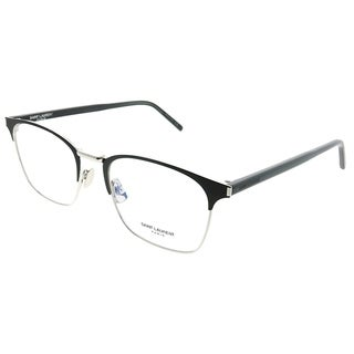 Saint Laurent Square SL 224 002 Unisex Black Silver Frame Eyeglasses