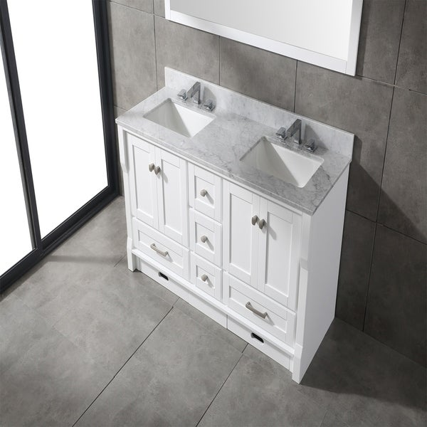 Shop Eviva Booster 60 In Double Sink Vanity In White With White