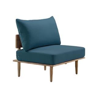 Shop Handy Living Peter Blue Strie Modern Armless Chairs