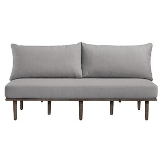 Handy Living Fundamentals Dove Grey Linen Armless Sofa