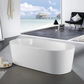 Eviva Chloe Freestanding 59 in. Acrylic Bathtub in White