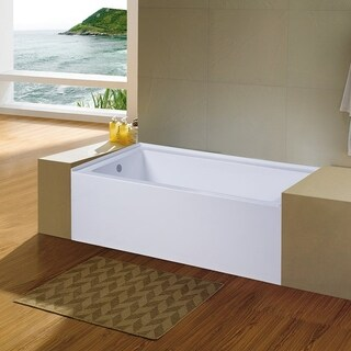 Eviva Nova Alcove 60 in. Acrylic Bathtub with Left Hand Drain - N/A